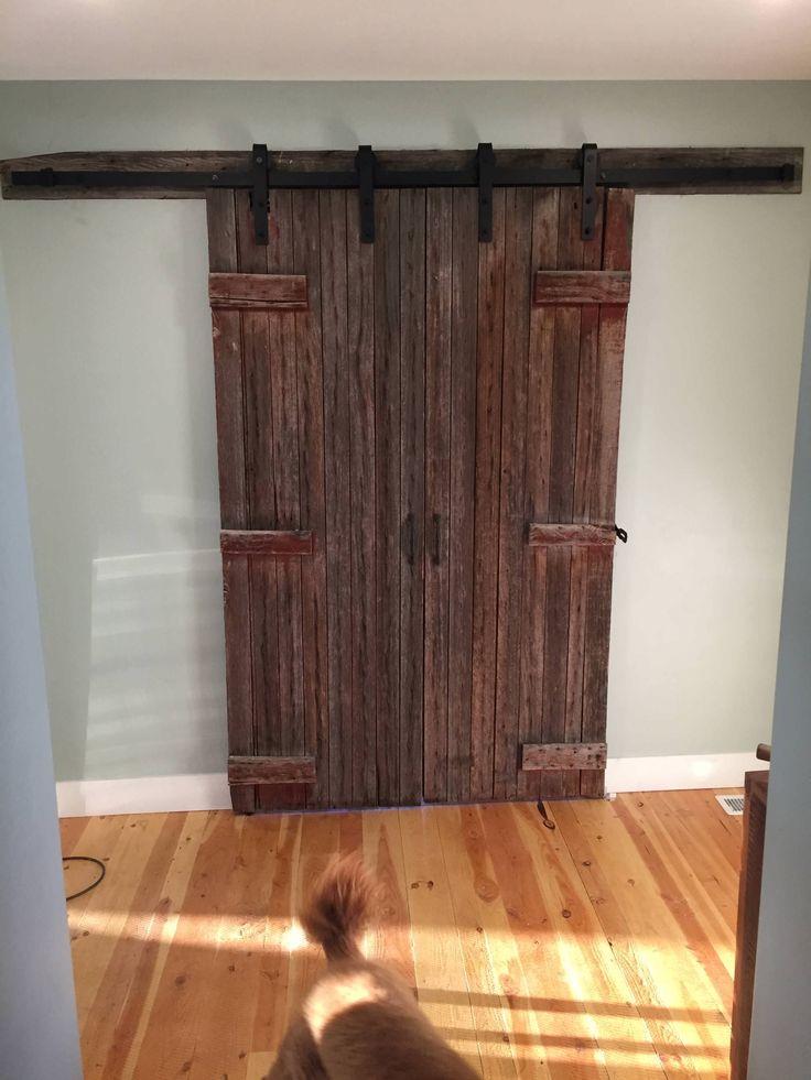 http://ift.tt/2eXLt9e a WWII era barn door in my home office.