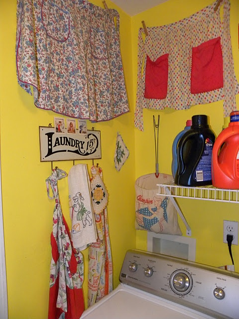 cute laundry room, even with limited space