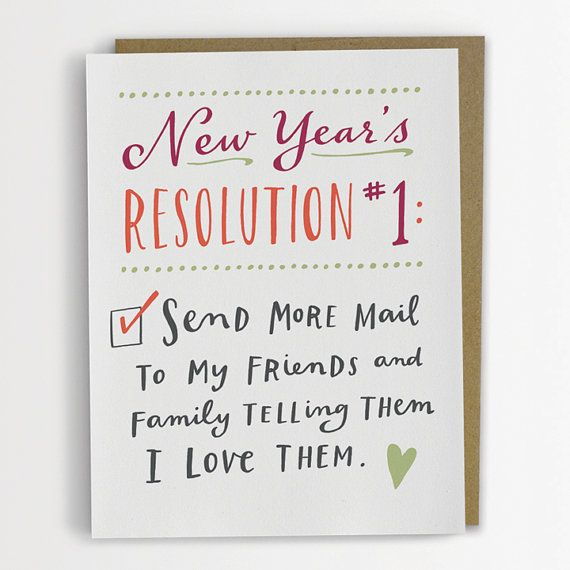 New Year's Resolution 1 Card
