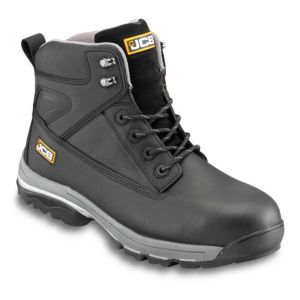 JCB Black Full Grain Leather Steel Toe Cap Fast JCB Black Full Grain  Leather Steel Toe