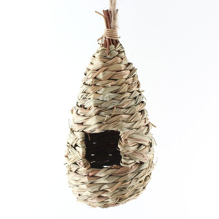 Natural Grass Woven Hanging Birdhouse Nest Bird Cages House Parrot Cage Bird Toys Small Pet Hamster Cage Hamster Toys