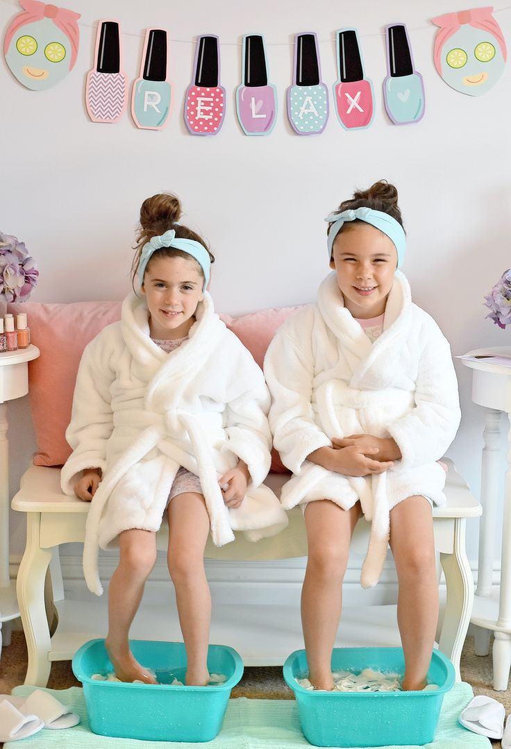 DIY Pedicure Station - fab idea for a Spa Day for Kids!