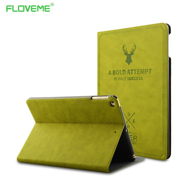 Smart Wake Leather Case For iPad Pro 9.7 iPad Air 1 2 Luxury Cover Deer Style Flip Stand Protective