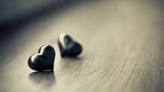 фото, сердце, настроение, сердечки, ч.б, разное, обои, макро, стол