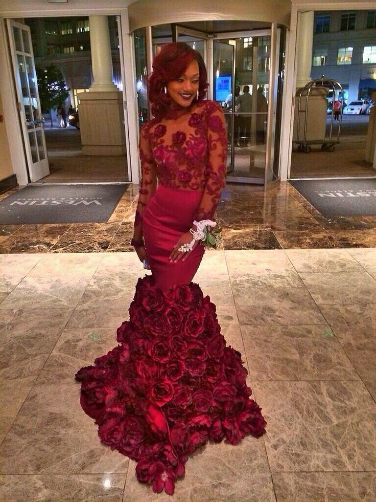 Silver black people prom dresses