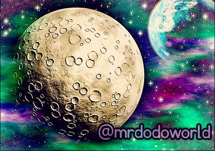 Magical cosmos #cosmos #space #Mars #Moon #moonlight #purple #green #magic #magical #planets #planet #earth