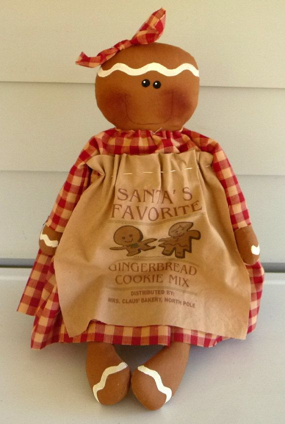 Primitive Gingerbread doll prim raggedy ginger by ahlcoopedup