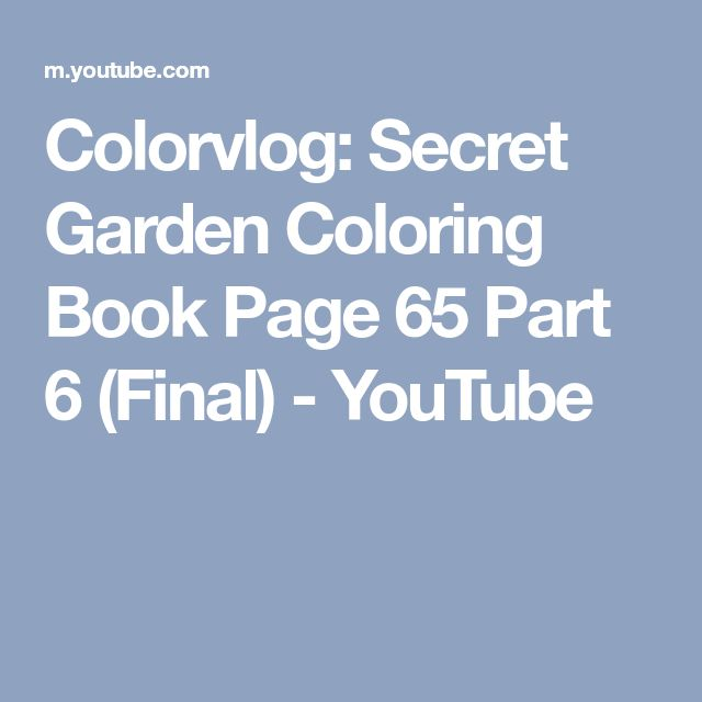 Colorvlog Secret Garden Coloring Book Page 65 Part 6 Final