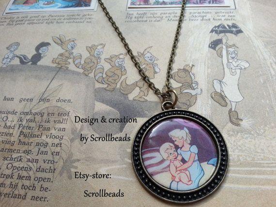 Peter Pan Wendy echte 1950's vintage boek-fragment door Scrollbeads