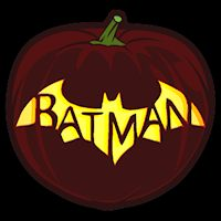 Batman Bat 04 CO - Stoneykins Pumpkin Carving Patterns and Stencils