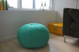 Free on Ravelry. Simple pattern for foot stool.