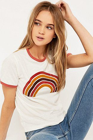 Retro Rainbow Ringer T-shirt