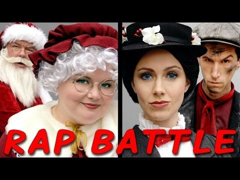 MRS CLAUS vs MARY POPPINS: Princess Rap Battle (Whitney Avalon Alyssa Preston Jim O'Heir Kevin Allen - YouTube