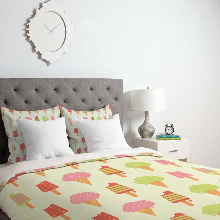 Nicole Martinez Ice Cream Duvet Cover | DENY Designs Home Accessories