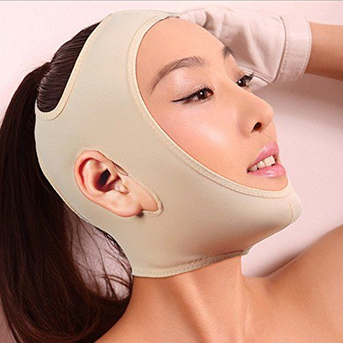 Geoot Wrinkle Face Slimming Cheek Mask Smooth Breathable Compression Chin Strap With Medium Neck Support Lift V Face Line Slim Up Belt Strap L Khaki >>> Want to know more, click on the image.
