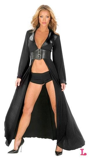 I found 'GOTHIC SEXY LONG BLACK ROBE SET: Lollipop Lingerie' on Wish, check it out!