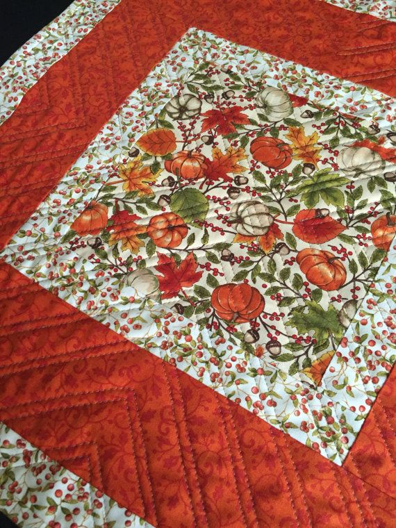 Free Shipping  Fall Table Topper Fall Quilt by PeggyGaylerDesigns