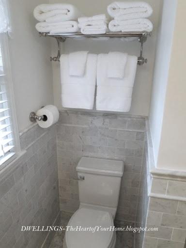 Guest bath. Idea for more storage.   – towel bar ideas