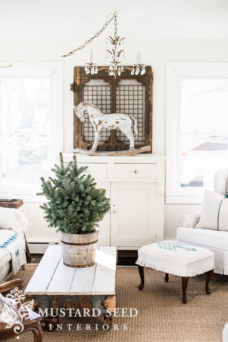 A Chandelier Watering Live Evergreens Blue Checks