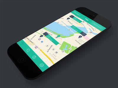 Map UI #ux #ui #flatdesign #flatcolor