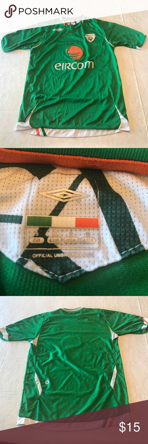 Ireland jersey Ireland jersey size youth small. Small orange spot on bottom back as pictured    Box 7 Umbro Shirts & Tops Tees - Short Sleeve