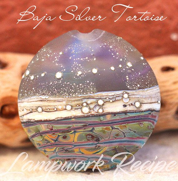 Lampwork Recipe eBook PDF Baja Silver Tortoise Lentil Bead