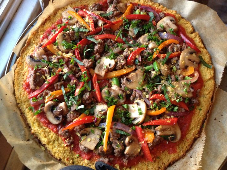 Paleo meat crust pizza. Make the base in the thermomix
