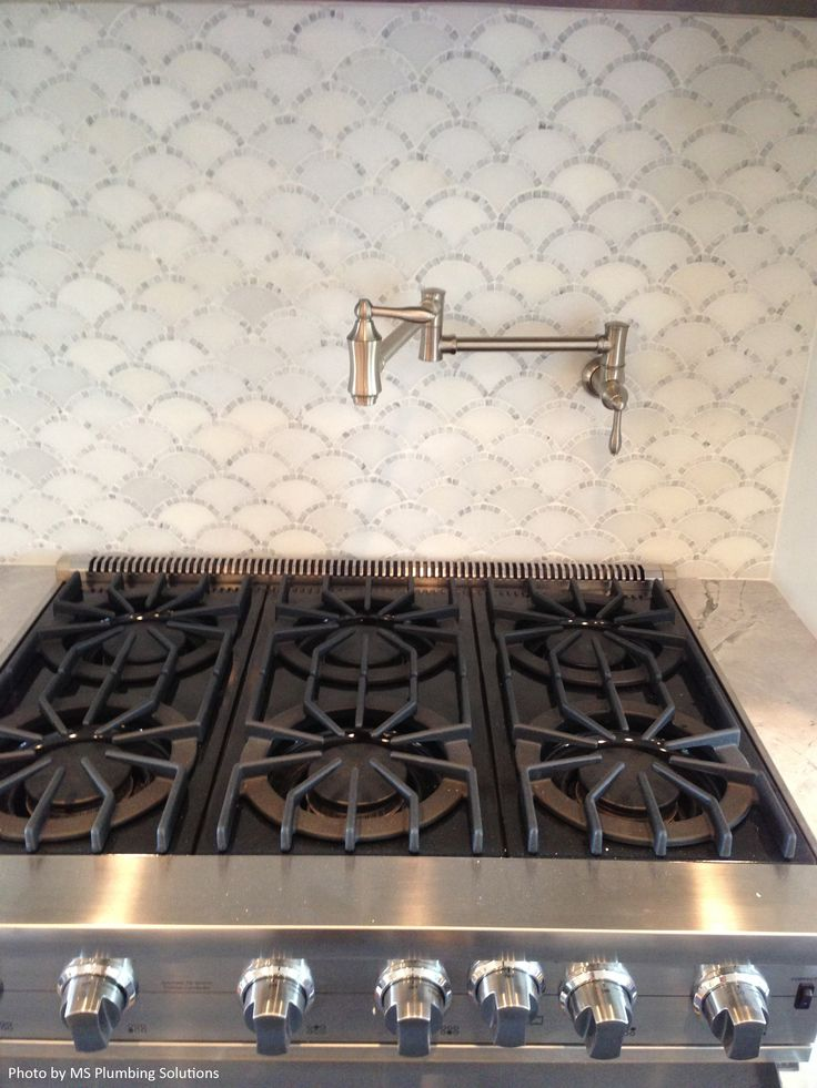 You Don T See A Scallop White Mosaic Tile Backsplash That