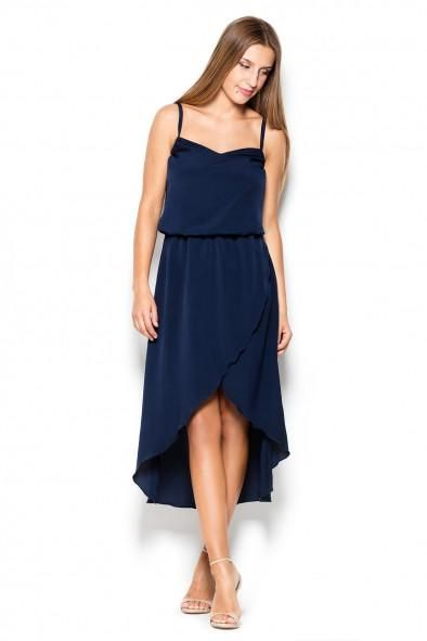 A New Katrus Wrap dip hem dress