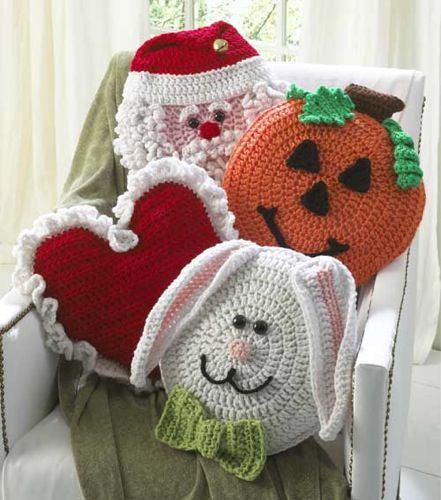 Holiday Pillows Crochet Pattern Set 1 On The Double