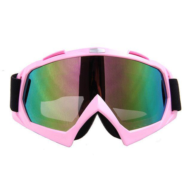 HEROBIKER New Ski Snowboard Snowmobile Motorcycle Goggles Dirt Bike Glasses Motocross Off-Road Eyewear Color Lens T815-7