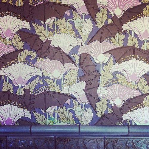 Reproduction Victorian Bat Wallpaper Kitsch Dream