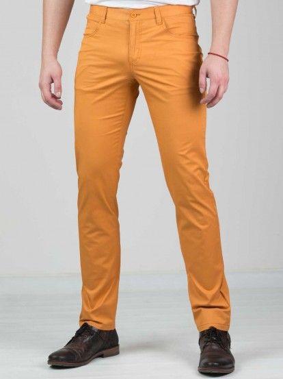 Pantaloni pentru bărbați STYLER - portocaliu