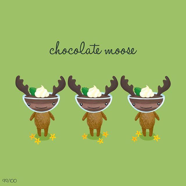 #100daysofCreatureMash entry 99/100: chocolate moose for @larrypat! can you believe tomorrow is the last day of this project?! . . . #illustration #moose #chocolatemousse #the100dayproject #doodle #drawingaday #creative #digitalillustration #art #sketch #draweveryday #chocolate #pun #illustratorsofinstagram #critters #adobeillustrator #makeartthatsells #creativebug #art_we_inspire #illustrationoftheday  #drawing  #idea #wacom #doitfortheprocess #artcollective #illustrationgram #イラスト #ラクガキ…