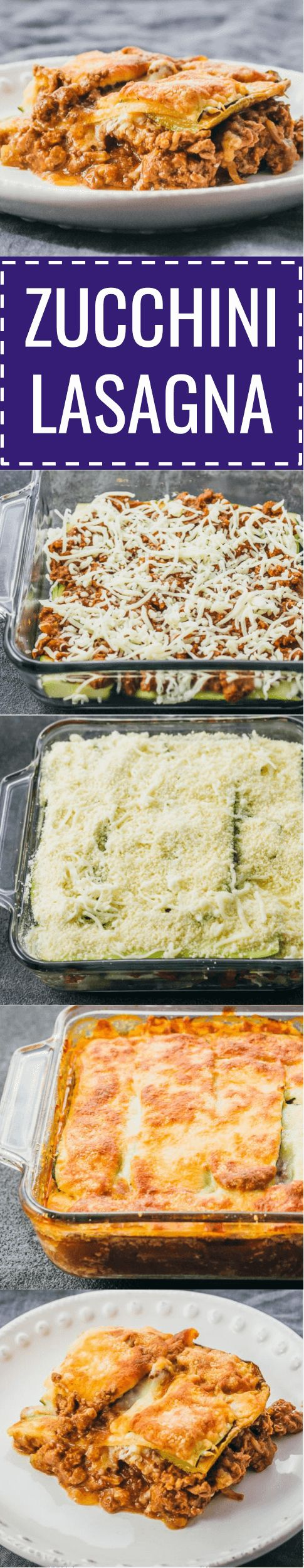 This easy zucchini lasagna is a great low carb and healthy alternative to your typical lasagna. keto / low carb / diet / atkins / meals / recipes / easy / dinner / lunch / foods / healthy / gluten free / easy / recipe / healthy / with meat / noodles / best / weight watchers / clean eating / no ricotta / shredded / beef / bake / make ahead / simple / mozzarella / calories / bolognese / roasted / lattice / dinners / dishes / onions #lasagna #healthy #dinner #keto