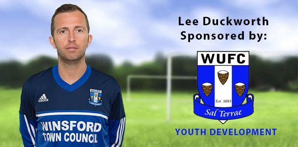 Lee Duckworth sponsored by Winsford United Football Club Youth Development.