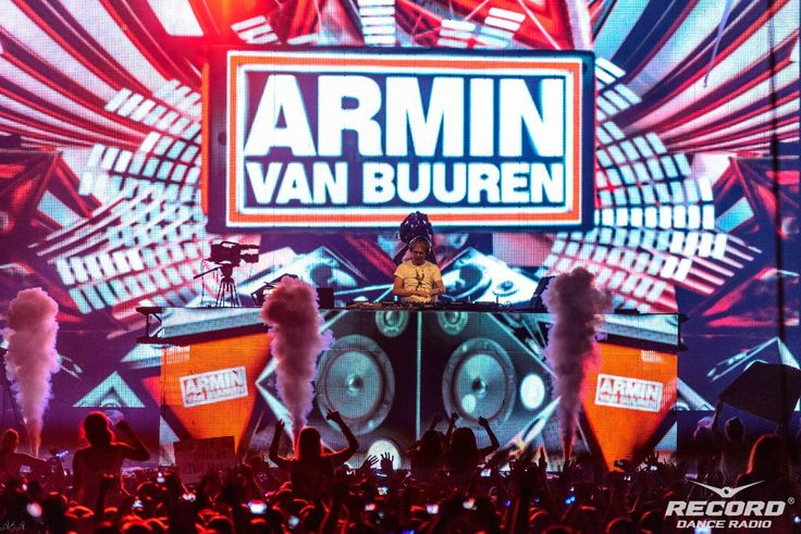 Laser Beam show on Radio Record 18th Birthday party, show for Armin van Buuren — by Dream Laser.