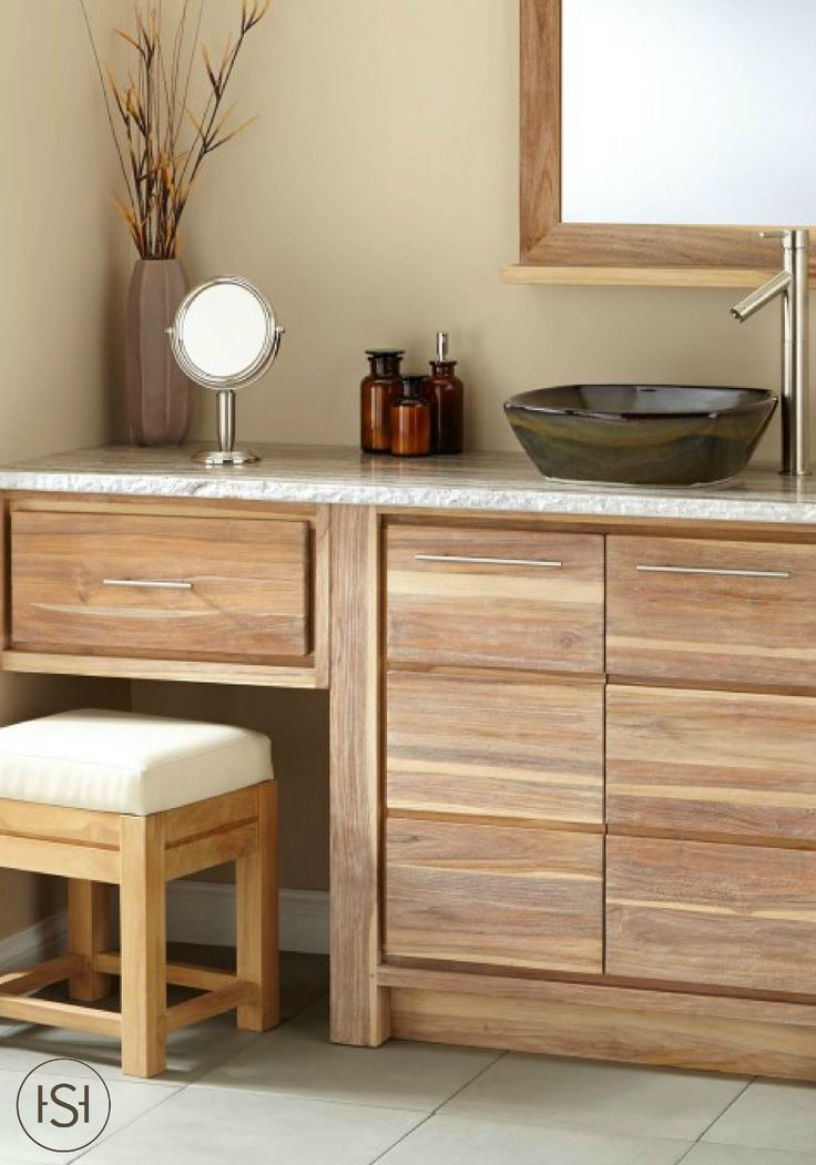 72 benoist reclaimed wood double vanity for semi recessed for Recycled bathroom sinks