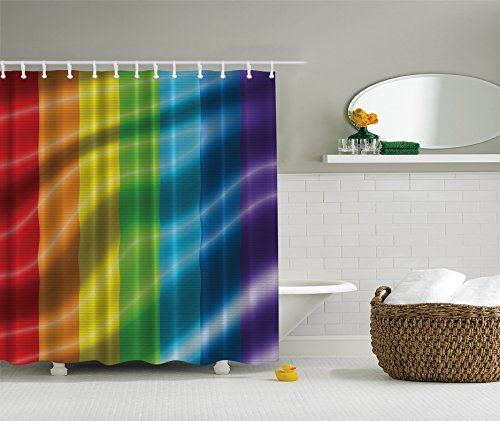 Gay leather theme shower curtain