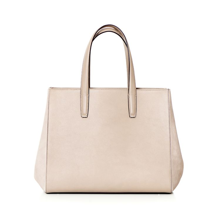DECADENT 338 Big open tote with nubuck sides Nubuck stone