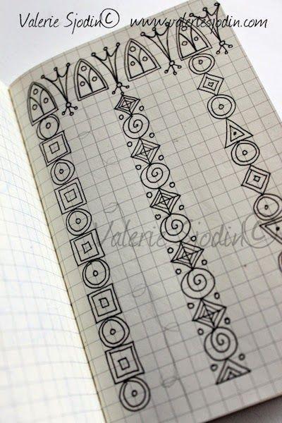 Doodling in my Mini-Moleskine Doodle Journal