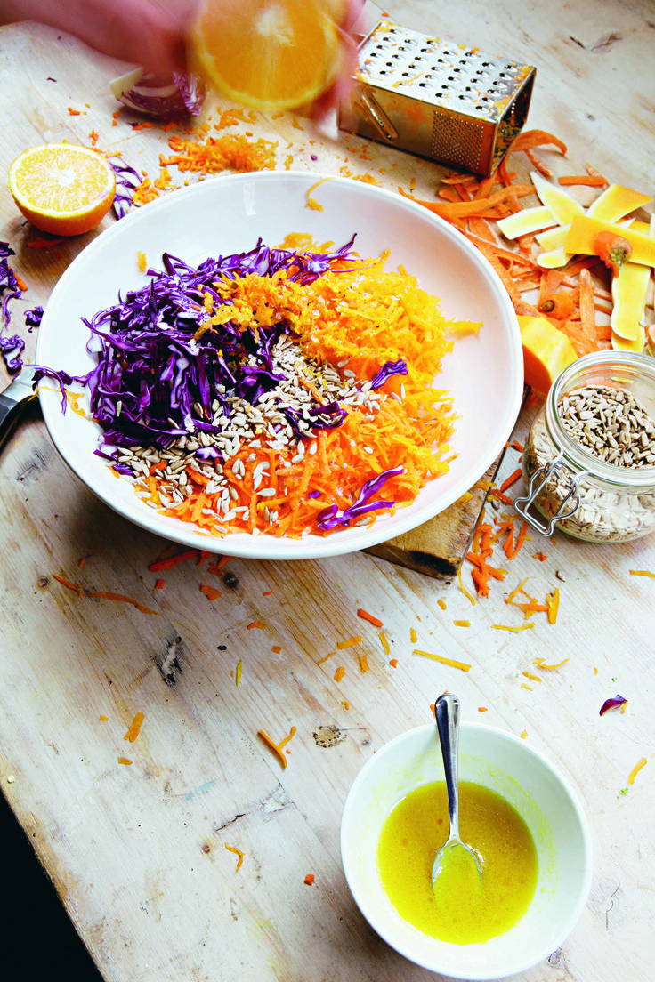 This easy recipe comes from Hugh Fearnley-Whittingstall's latest book River Cottage Light & Easy. Squash, Cabbage + Carrot Slaw - I Quit Sugar