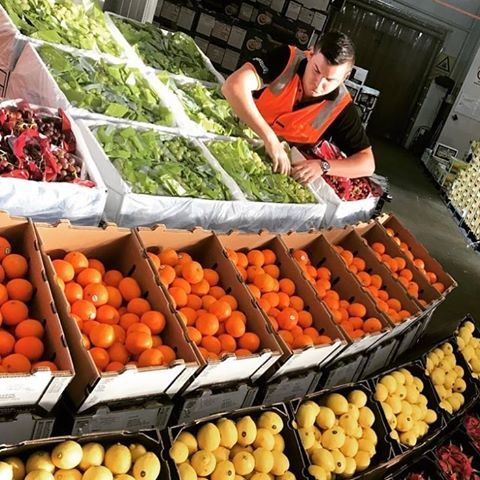 🍊🍋🍇 Setting up for Monday trade at the Brisbane Markets. #brisbanemarkets #wholesale #fruit #veg #spencerranch #carterandspencer #freshproduce 📷 @the_mathaios