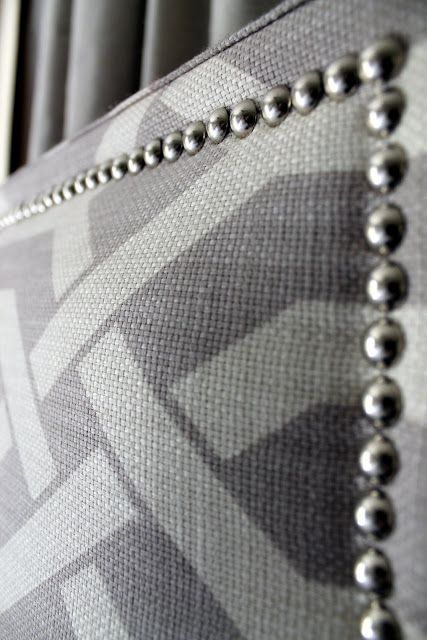 Good tutorial for an upholstered headboard that has professionally finished details