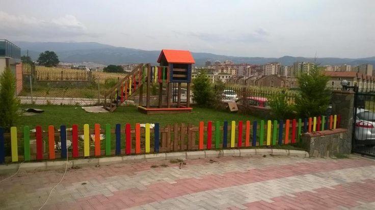Dış Mekan Oyun Parkı Çiti,Ay-Go, Ahşap Çift,Ay Geliştirici Oyuncaklar - Bursa