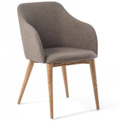 Chaise avec accoudoir design scandinave VARM gris - Achat / Vente chaise - Black Friday le 24/11 Cdiscount