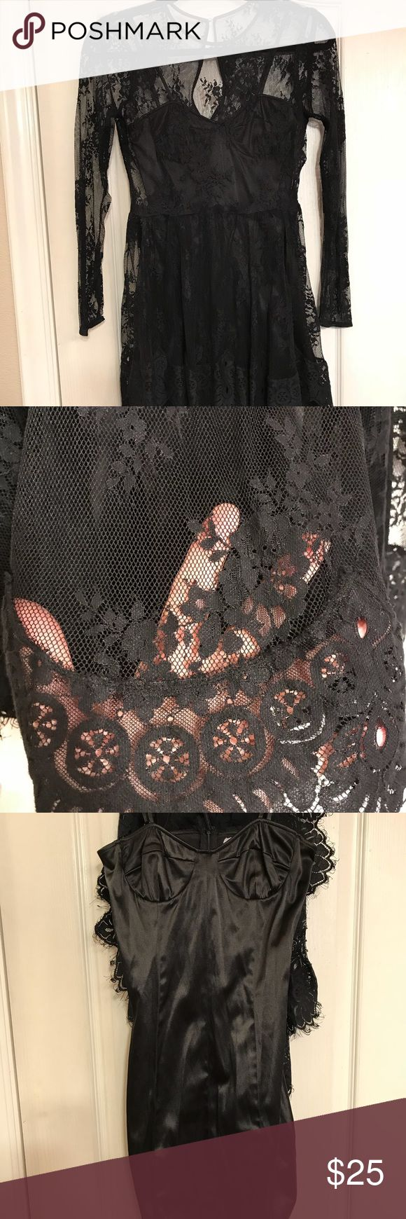 Pearl Georgina Chapman Marchessa dress Pearl Georgina Chapman lace overlay dress with body con under dress. Size 2. Under dress is stretchy. Pearl by Georgina Chapman Dresses