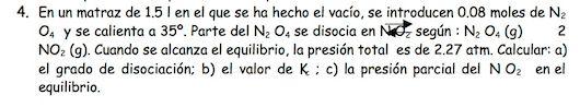 Ejercicio 4,P1, JUNIO 1997. Examen PAU de Química de Canarias. Tema: equilibrio.