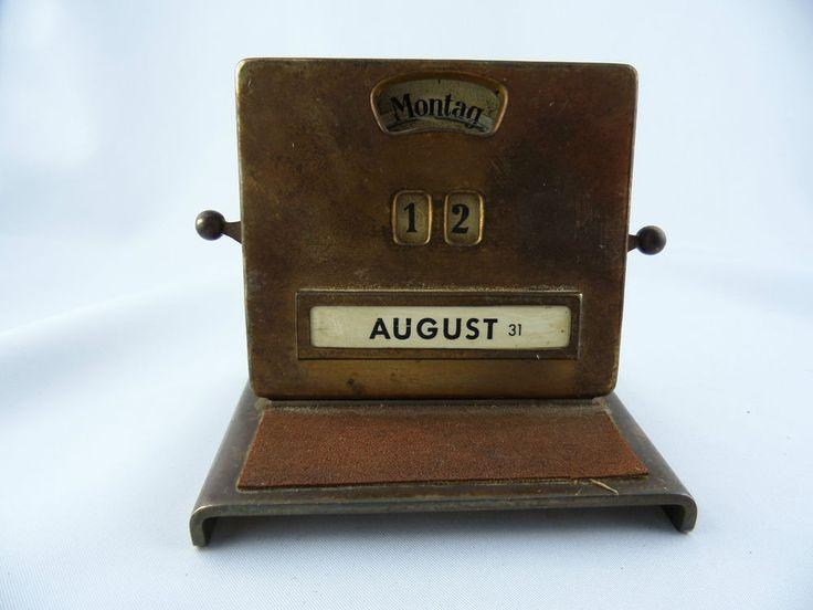 Ewiger Kalender Büro Schreibtisch Drehzahlen Metall Jacob Maul