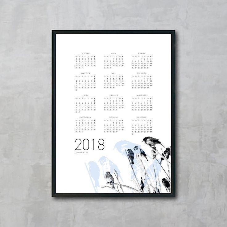 Plakat: Kalendarz 2018 v.1
